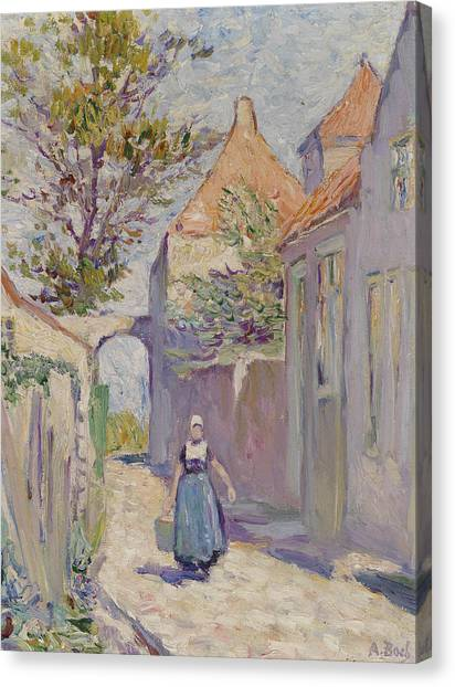 Divisionism Canvas Print - The Water Carrier by Anna Boch