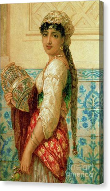 Africa Tiles Canvas Print - The Water Carrier by Augustus Jules Bouvier