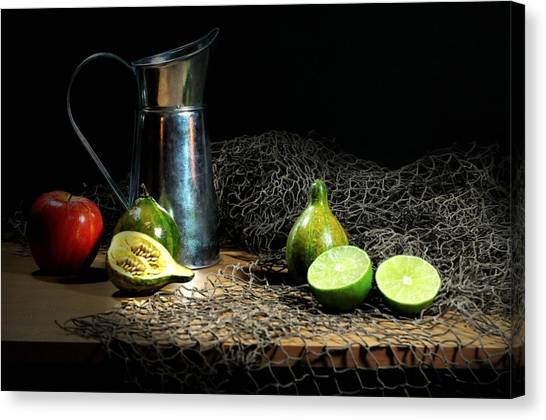 Still Life With Fish Canvas Print - The Water Glove by Diana Angstadt