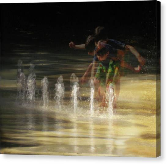 The Water Maestro  Canvas Print