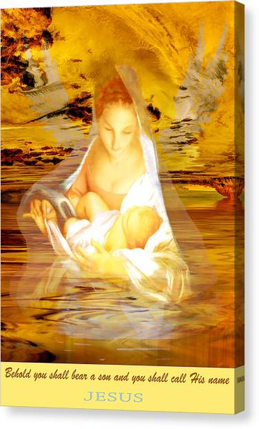 Canvas Print featuring the painting The Water Of Life by Valerie Anne Kelly