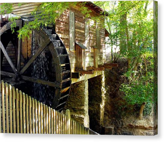 The Water Wheel Canvas Print by Eva Thomas