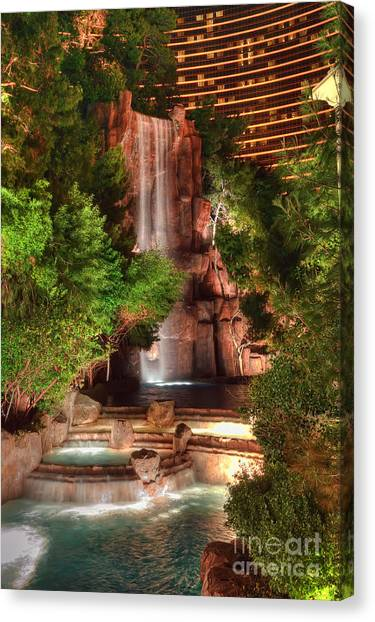 The Waterfall At The Wynn Resort Canvas Print