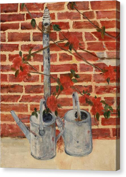 The Watering Cans Canvas Print by Betty Stevens