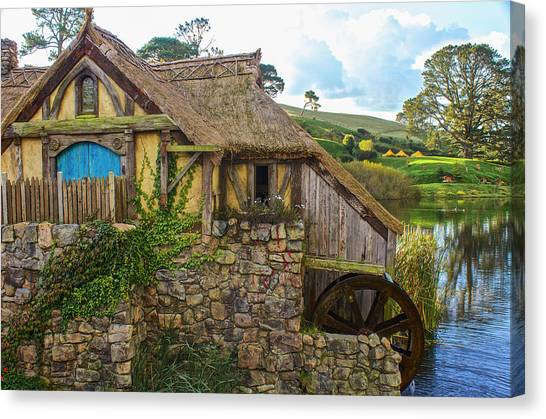 The Watermill, Bag End, The Shire Canvas Print