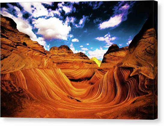 Canvas Print featuring the photograph The Wave Arizona Light by Norman Hall