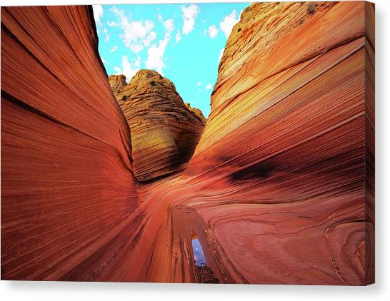 Canvas Print featuring the photograph The Wave Arizona by Norman Hall