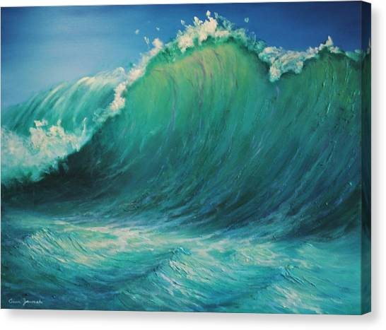 The Wave By Alan Zawacki Canvas Print