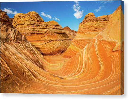 Metallic Canvas Print - The Wave by Edgars Erglis