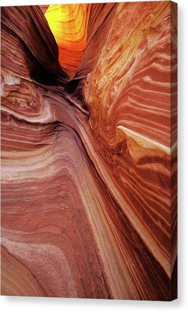 Canvas Print featuring the photograph The Wave Trail by Norman Hall
