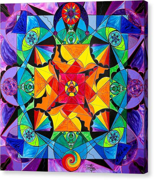Aliens Canvas Print - The Way - Arcturian Blue Ray Grid by Teal Eye Print Store