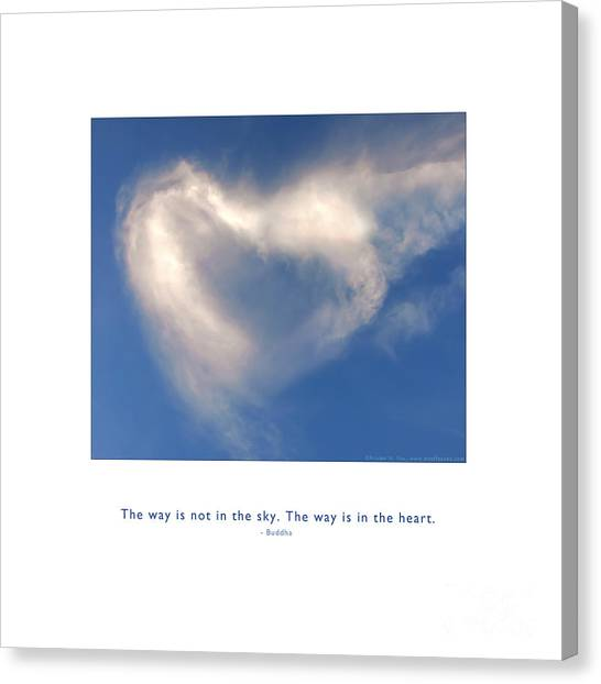 Canvas Print featuring the photograph The Way Is In The Heart by Kristen Fox