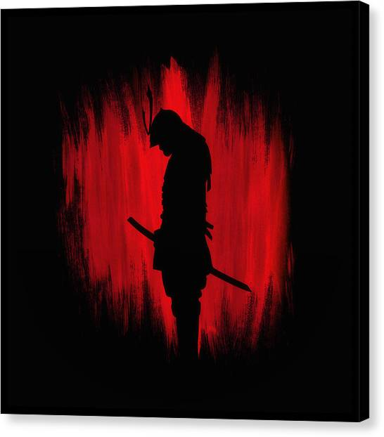 Karate Canvas Print - The Way Of The Samurai Warrior by Philipp Rietz