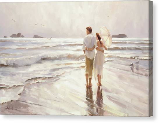 Seagulls Canvas Print - The Way That It Should Be by Steve Henderson
