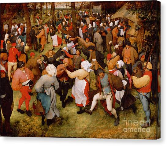 Bagpipes Canvas Print - The Wedding Dance by Pieter the Elder Bruegel