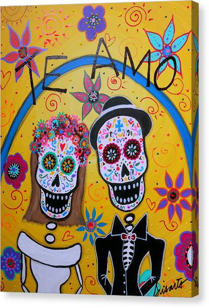 The Wedding Day Of The Dead Canvas Print