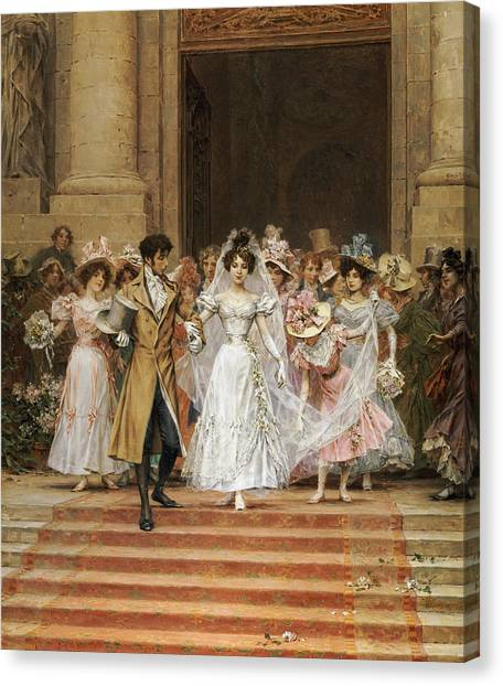 Wedding Bouquet Canvas Print - The Wedding by Frederik Hendrik Kaemmerer