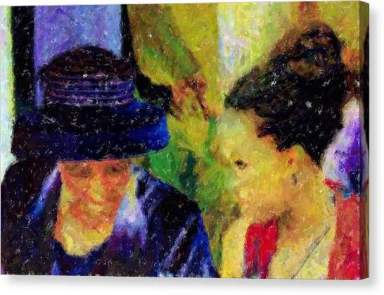 The Wedding Canvas Print by LeeAnn Alexander