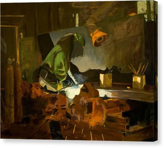 The Welder Canvas Print by Martha Ressler