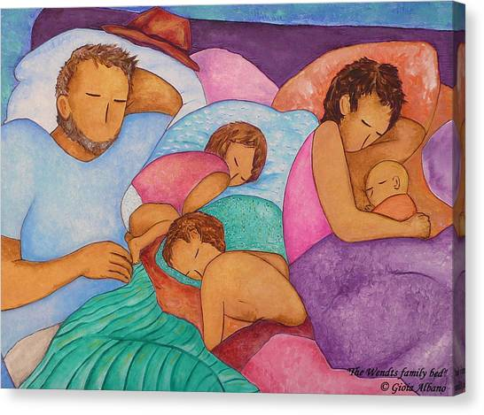 The Wendts Family Bed Canvas Print