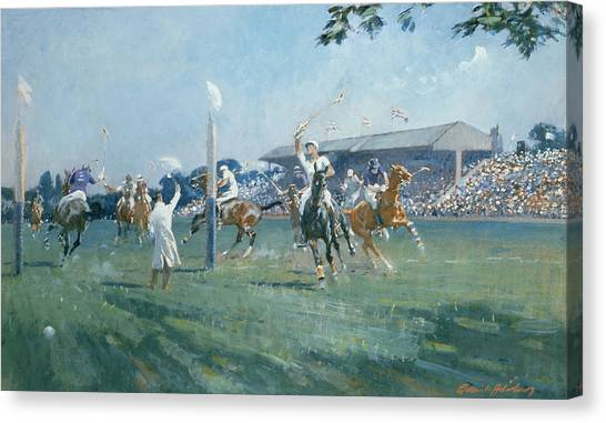 Polo Canvas Print - The Westchester Cup by Gilbert Holiday