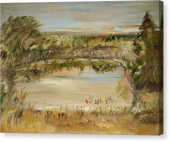 The Westfern Pond Canvas Print by Edward Wolverton