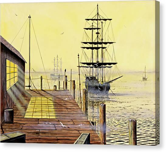 The Wharf Canvas Print by Don Griffiths