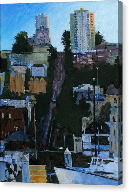 The Wharf Canvas Print by Robert Bissett