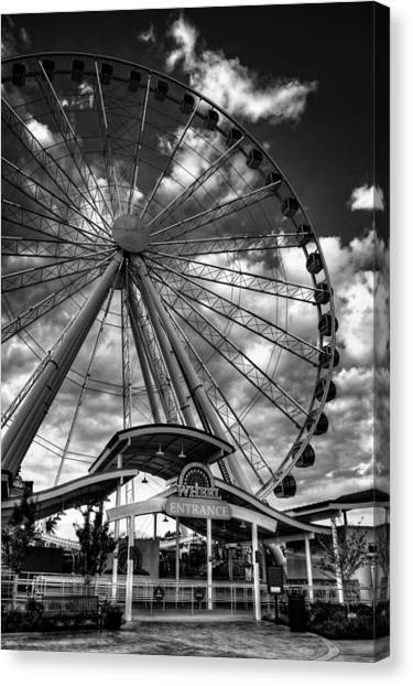 The Wheel Entrance In Black And White Canvas Print