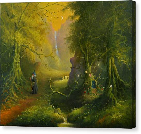 The Whispering Wood Canvas Print