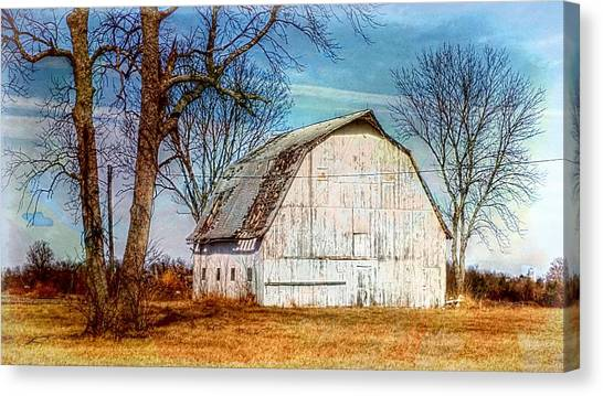 The White Barn Canvas Print