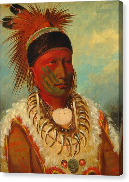 The White Cloud, Head Chief Of The Iowas Canvas Print