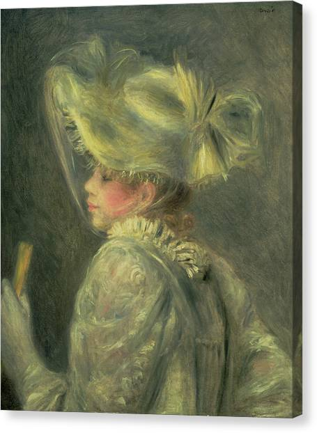 Feminist Canvas Print - The White Hat by Pierre Auguste Renoir