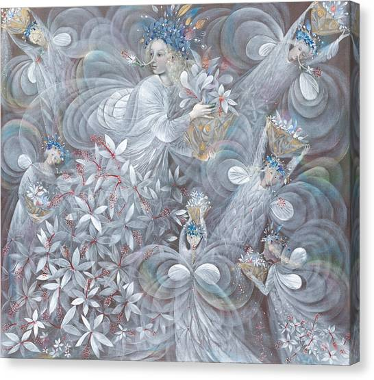 Hibiscus Canvas Print - The White Hibiscus by Annael Anelia Pavlova