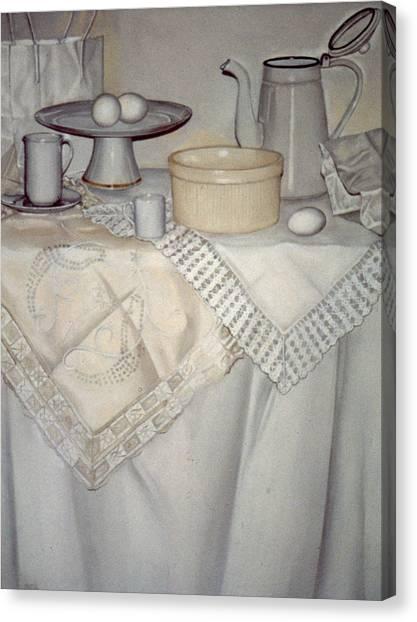 Maureen Hunt Piccirillo Canvas Print - The White Painting by Maureen Piccirillo