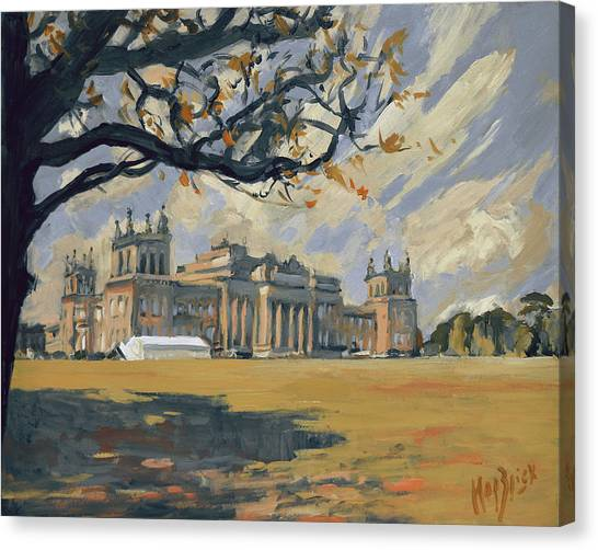 Canvas Print - The White Party Tent Along Blenheim Palace by Nop Briex