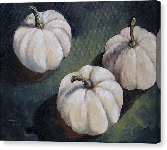 The White Pumpkins Canvas Print