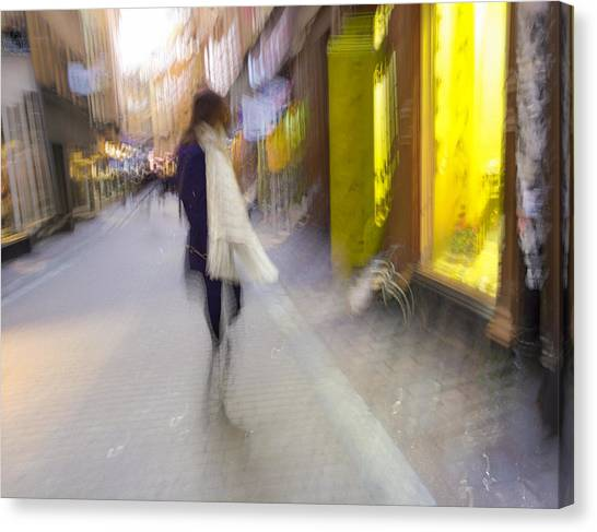 The White Scarf Canvas Print