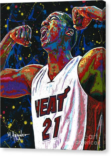 Sacramento Kings Canvas Print - The Whiteside Flex by Maria Arango