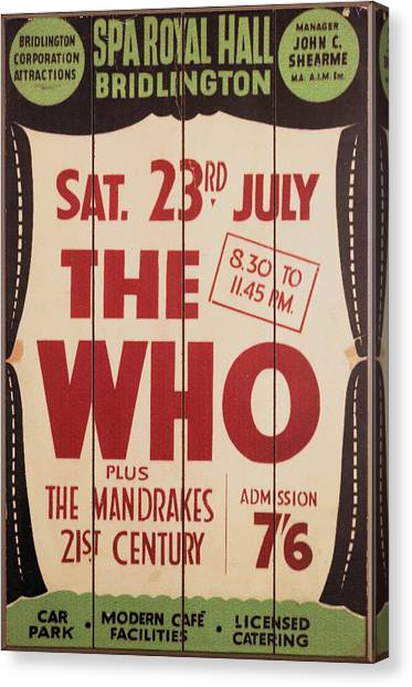The Who 1966 Tour Poster Canvas Print
