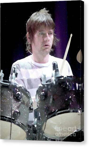 Ringo Starr Canvas Print - The Who Zak Starkey Painting by Concert Photos