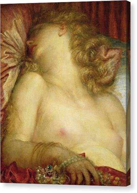 Boudoir Canvas Print - The Wife Of Plutus by George Frederic Watts