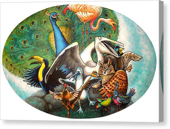 Canvas Print - The Wild Birds Jamboree by Rich Travis