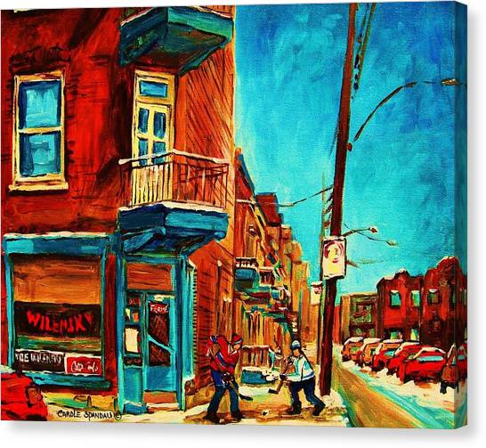 China Town Canvas Print - The Wilensky Doorway by Carole Spandau