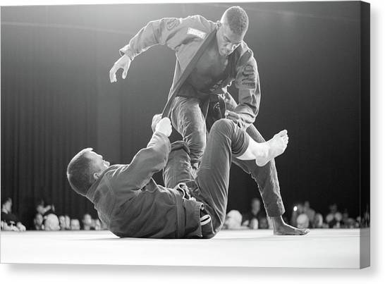 Jujitsu Canvas Print - The Will Of A Man by Joshua Raines