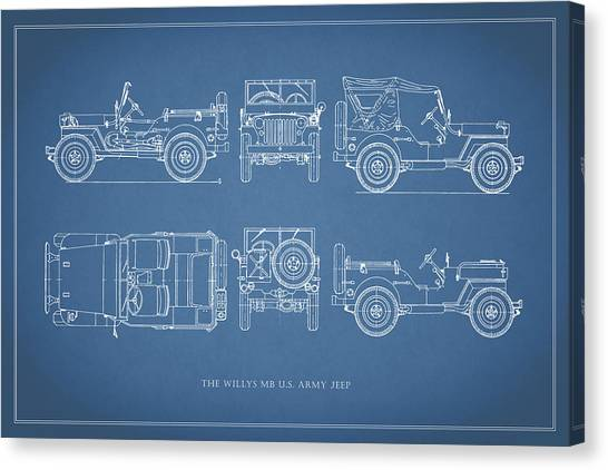 Jeep Canvas Print - The Willys Jeep by Mark Rogan