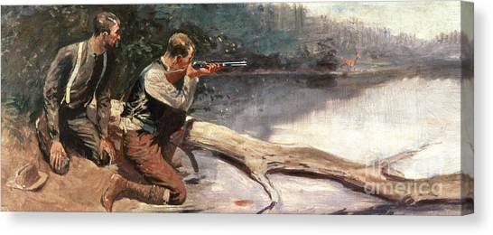 Pairs Canvas Print - The Winchester by Frederic Remington