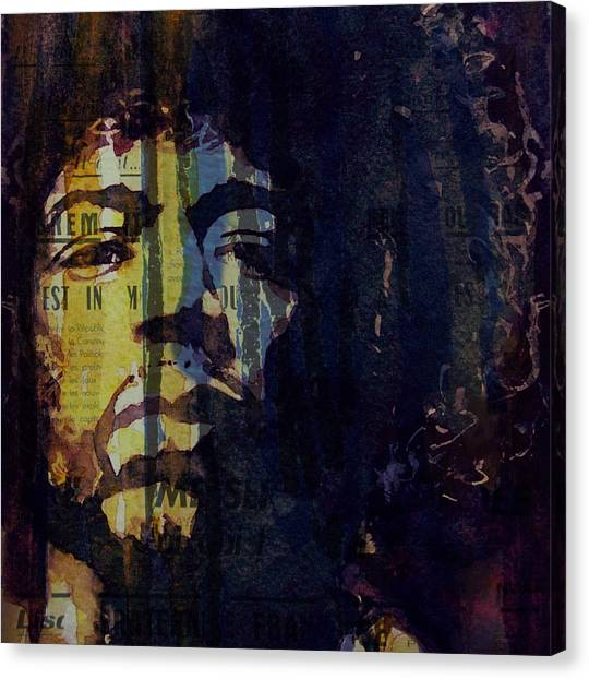 Jimi Hendrix Canvas Print - The Wind Cries Mary Reprise  by Paul Lovering