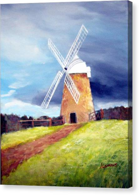 The Windmill Canvas Print by Julie Lamons