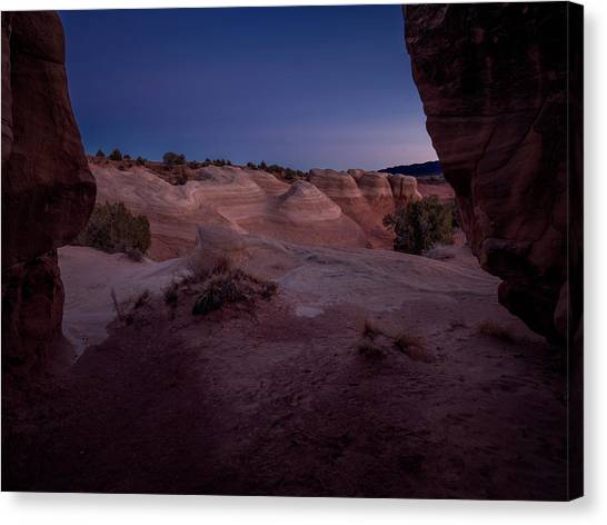 Morning Glory Canvas Print - The Window In Desert by Edgars Erglis